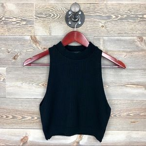 Forever 21 Cropped Ribbed Sweater Tank